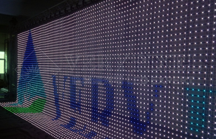 Flexible scroll Curtain LED, flex led display