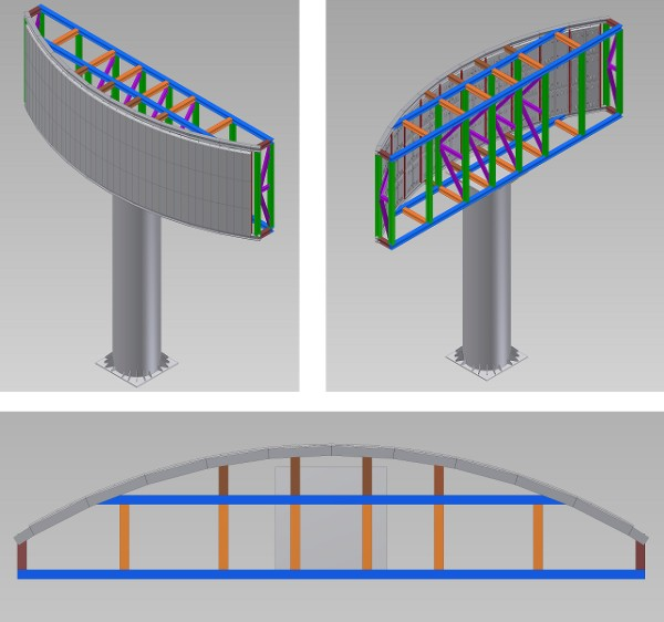 LED Display Curve Installation Type