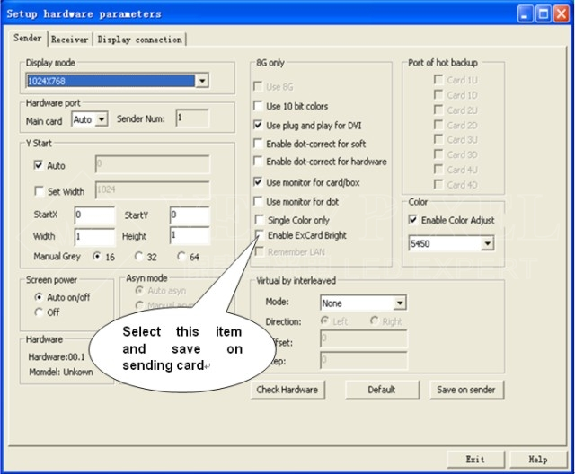 Multifunction card software setting