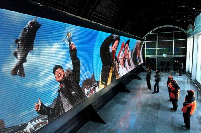indoor giant led screen,interior video wall