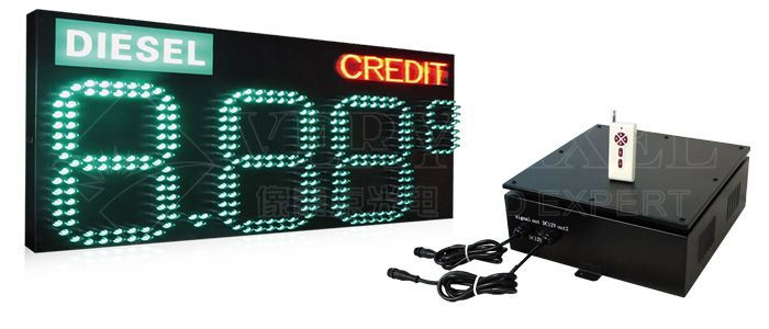 8.888 LED Gas Station Price Sign system