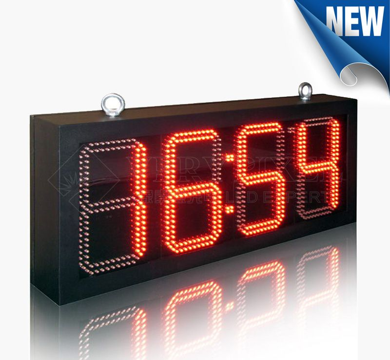 8 inch Outdoor LED Time and Temp Sign