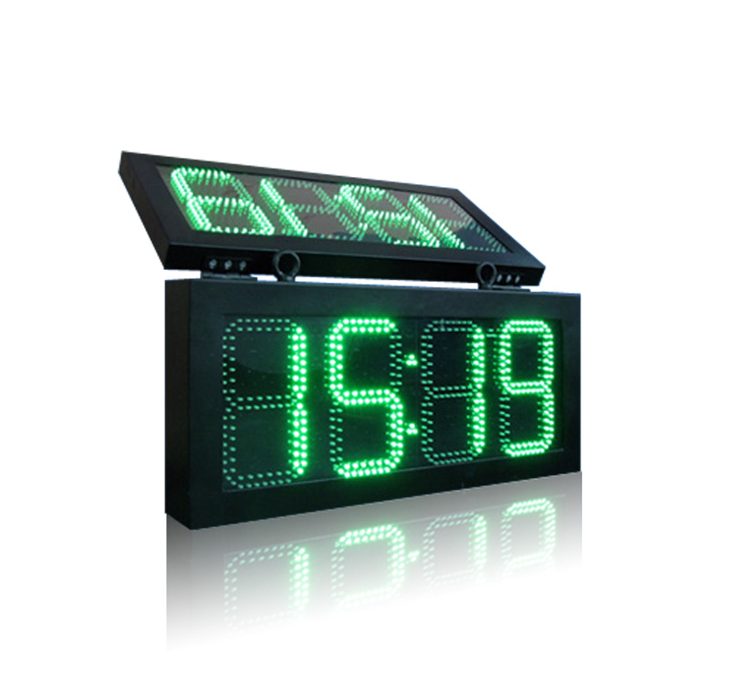 5 to 24 inch LED time and temperature electronic displays