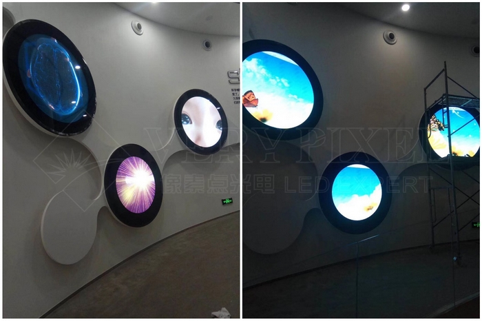 VP-FS-Outdoor P6.35 Round Sign LED Display